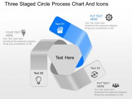 nq Three Staged Circle Process Chart And Icons Powerpoint Template