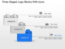 Nq Three Staged Lego Blocks With Icons Powerpoint Template Slide