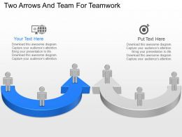 nq Two Arrows And Team For Teamwork Powerpoint Temptate