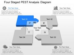 Nr Four Staged Pest Analysis Diagram Powerpoint Template