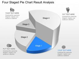 Ns Four Staged Pie Chart Result Analysis Powerpoint Template