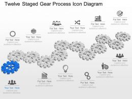 Ns Twelve Staged Gear Process Icon Diagram Powerpoint Template Slide