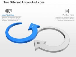 ns Two Different Arrows And Icons Powerpoint Temptate