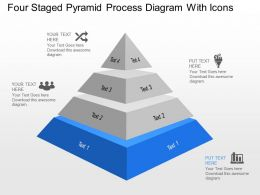 Nt Four Staged Pyramid Process Diagram With Icons Powerpoint Template
