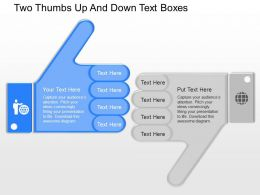 nt Two Thumbs Up And Down Text Boxes Powerpoint Temptate