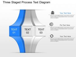 nu Three Staged Process Text Diagram Powerpoint Template