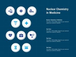 Nuclear Chemistry In Medicine Ppt Powerpoint Presentation Slides Outline