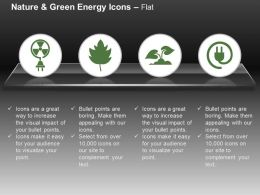 Nuclear Energy Symbol Green Plant Power Plug Ppt Icons Graphics