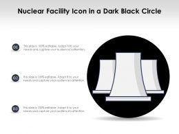Nuclear Facility Icon In A Dark Black Circle