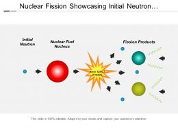 Nuclear Fission Showcasing Initial Neutron And Nuclear Fuel Nucleus