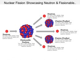 Nuclear Fission Showcasing Neutron And Fissionable Nucleus
