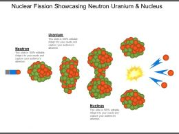 Nuclear Fission Showcasing Neutron Uranium And Nucleus