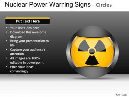Nuclear Power Circles Powerpoint Presentation Slides DB