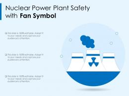 Nuclear Power Plant Safety With Fan Symbol