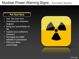 Nuclear Power Rounded Square Powerpoint Presentation Slides DB