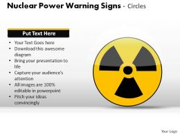Nuclear Power Warning Signs Circles Powerpoint Presentation Slides