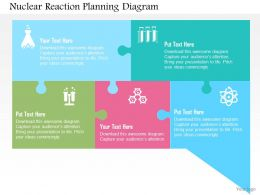 Nuclear Reaction Planning Diagram Flat Powerpoint Design