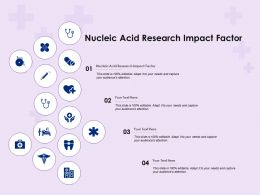 Nucleic Acid Research Impact Factor Ppt Powerpoint Presentationmodel Brochure