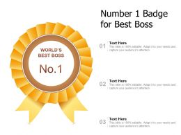 Number 1 Badge For Best Boss