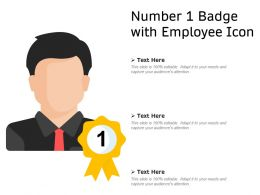 Number 1 Badge With Employee Icon