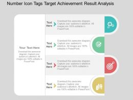 Number Icon Tags Target Achievement Result Analysis Flat Powerpoint Design