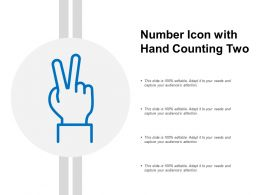 Number Icon With Hand Counting Two