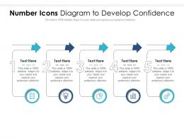 Number Icons Diagram To Develop Confidence Infographic Template