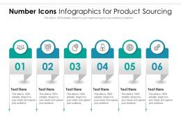 Number Icons For Product Sourcing Infographic Template