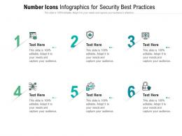 Number Icons For Security Best Practices Infographic Template