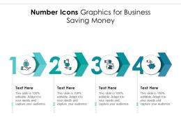 Number Icons Graphics For Business Saving Money Infographic Template