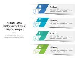 Number Icons Illustration For Honest Leaders Examples Infographic Template