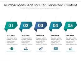 Number Icons Slide For User Generated Content Infographic Template
