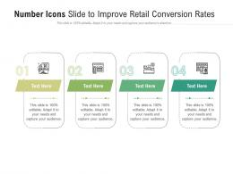 Number Icons Slide To Improve Retail Conversion Rates Infographic Template