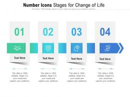 Number Icons Stages For Change Of Life Infographic Template