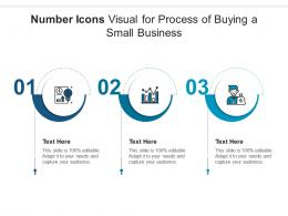 Number Icons Visual For Process Of Buying A Small Business Infographic Template