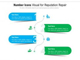 Number Icons Visual For Reputation Repair Infographic Template
