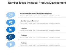 Number Ideas Included Product Development Number Issues Resolved