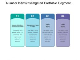 Number Initiatives Targeted Profitable Segment Management Span Control