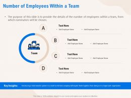 Number Of Employees Within A Team Organization Ppt Powerpoint Presentation Infographics Example File