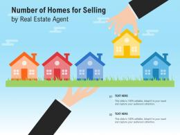 Number Of Homes For Selling By Real Estate Agent