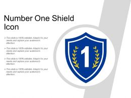 Number One Shield Icon