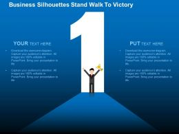 Number One Success And Victory Flat Powerpoint Design