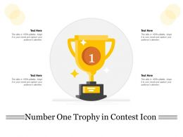 Number One Trophy In Contest Icon