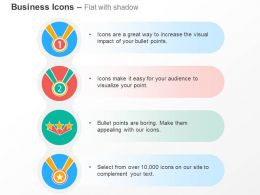 Number One Two Star Ribbons Ppt Icons Graphics