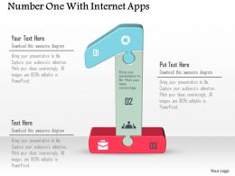 Number One With Internet Apps Powerpoint Template