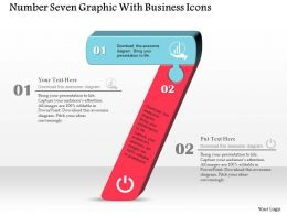 Number Seven Graphic With Business Icons Powerpoint Template