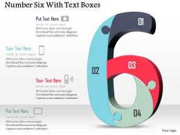 Number Six With Text Boxes Powerpoint Template