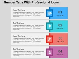 Number Tags With Professional Icons Flat Powerpoint Design