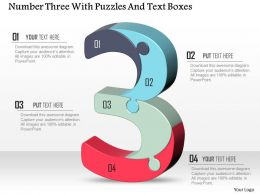number_three_with_puzzles_and_text_boxes_powerpoint_template_Slide01