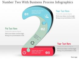Number Two With Business Process Infographics Powerpoint Template